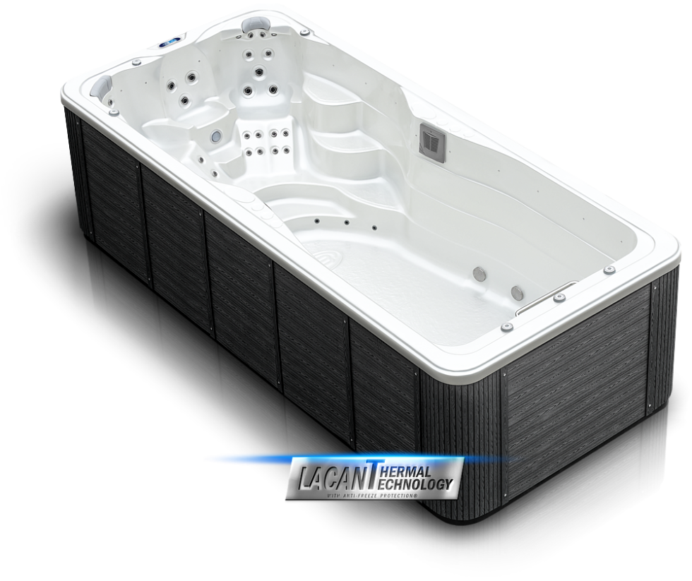 Spa studio whirlpool hot tub - Mollus XXL swim spa - new 2019