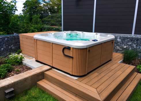 Delphina New - family jacuzzi in garden. Hot tub by Canadian Spa International®