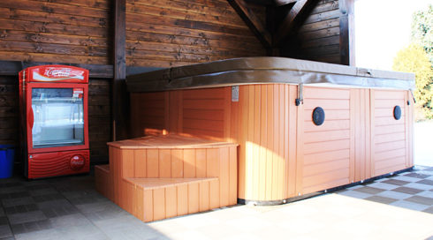 Delphina Canadian Spa International® family hot tub on the terrace - Spa Studio Bratislava