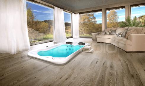Luxusní malá vířivá vana jako funkční doplněk v interiéru na několik způsobů - Canadian Spa International